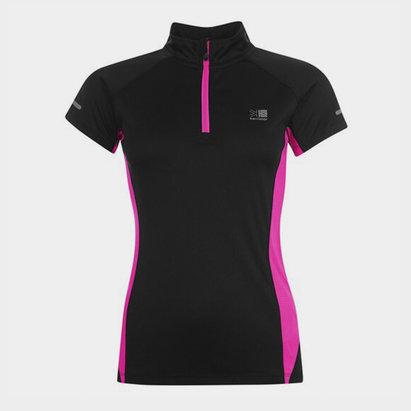 Karrimor quarter  Zip Short Sleeve T Shirt Ladies