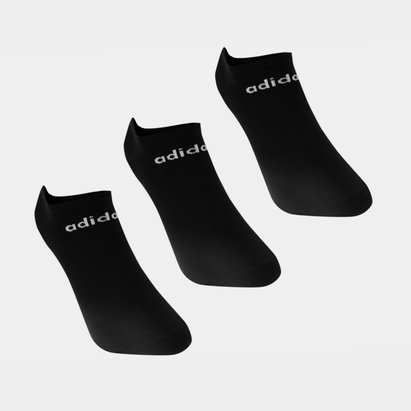 adidas No Show 3 Pack Trainer Socks Mens