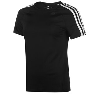 adidas D2M 3 Stripe T-Shirt Ladies