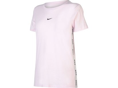 Nike Logo Tape T Shirt Ladies