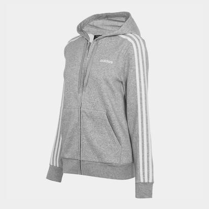 adidas Stripes Zip Fleece Track Top Hoodie