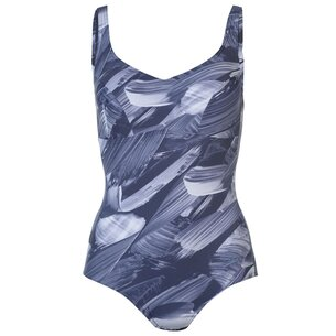 Speedo Marl Racer Swimsuit Ladies