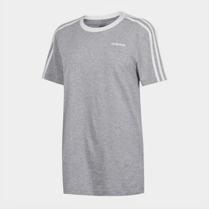 adidas Essentials 3 Stripe T-Shirt Ladies