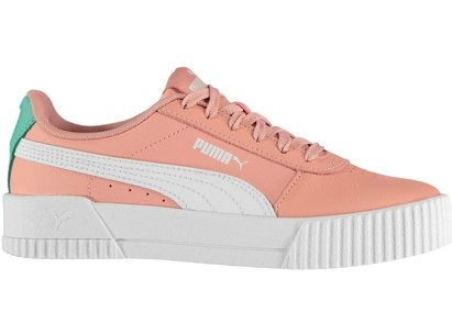 Puma Carina Leather Trainers Junior Girls