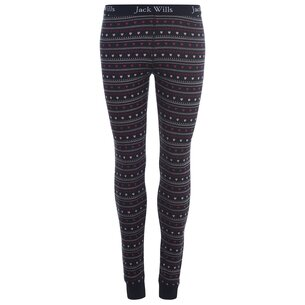 Jack Wills Sackler Fairisle Heart Leggings
