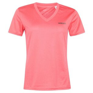 adidas DM2 V Neck T Shirt Ladies