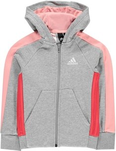 adidas Athletics Club Full Zip Hoodie Junior Girls