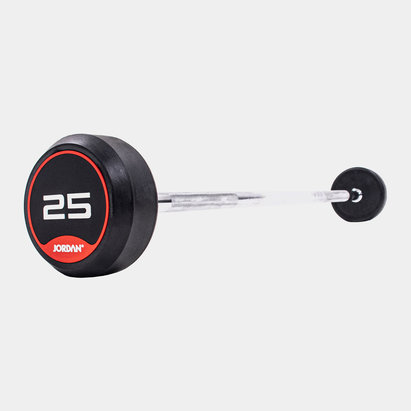 Jordan 25kg Classic Rubber Barbell with Straight Bar