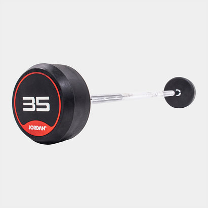 Jordan 35kg Classic Rubber Barbell with Straight Bar