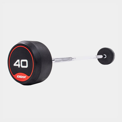 Jordan 40kg Classic Rubber Barbell with Straight Bar