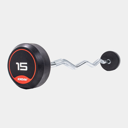 Jordan 15kg Classic Rubber Barbell with Curl Bar