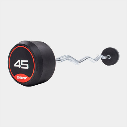 Jordan 45kg Classic Rubber Barbell with Curl Bar