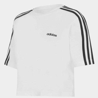 adidas 3S Crop T Shirt Womens