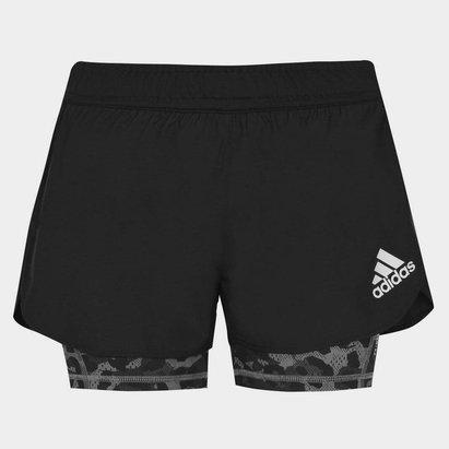 adidas 2in1 LadiesRunning Shorts