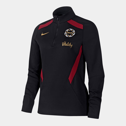 Nike England Netball Quarter Zip Mid Layer Top Ladies