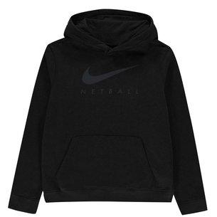 Nike England Netball Swoosh Blackout Kids Hoodie