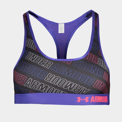 Under Armour HeatGear Girls Armour Printed Sports Bra