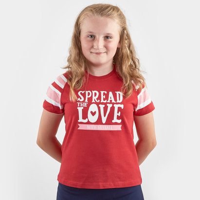 HeartNetball Girls Scarlet T-Shirt