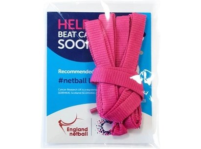 Pink Netball Laces - raising money for Cancer Research UK
