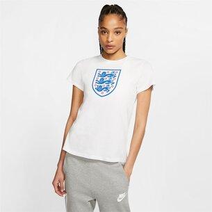 Nike England Crest T Shirt Ladies