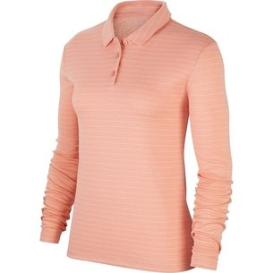 Nike Dry Polo Long Sleeved Polo Top Womens