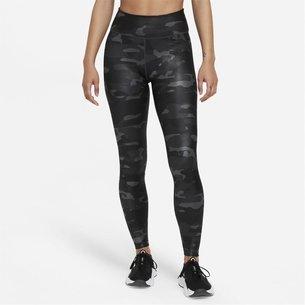 Nike Dri FIT One Camo Womens Mid Rise Tights