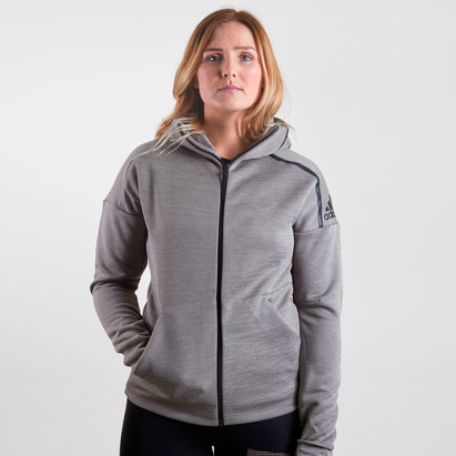 adidas ZNE Unisex Full Zip Hooded Training Sweat
