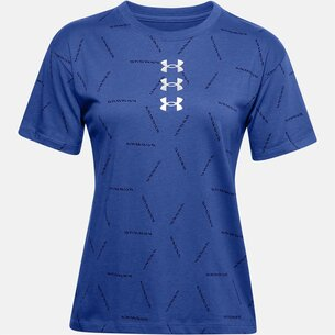 Under Armour All Over Graphic Print T Shirt Ladies