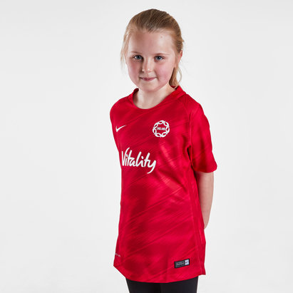 Nike England 2019 Kids Warm Up Netball T-Shirt