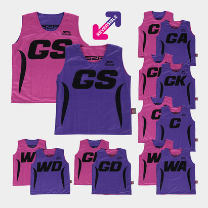 Slazenger Reversible Kids Netball Training Bibs - Set of 7