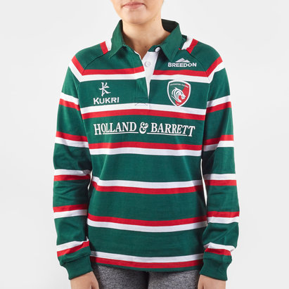 Kukri Leicester Tigers 2019/20 Home Ladies L/S Classic Shirt