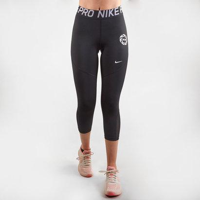 Nike England 2019 Ladies Mid Rise Pro Capri Netball Leggings