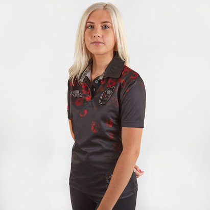 Samurai Army Rugby Union Remembrance Day Poppy Ladies S/S Rugby Shirt