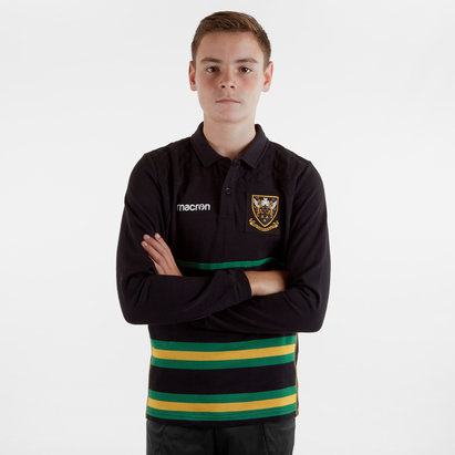 Macron Northampton Saints 2018/19 Kids L/S Heavy Cotton Shirt