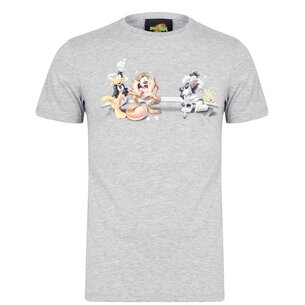 Hype x Space Jam Retro Character Print Adult T Shirt