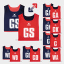 Netball Reversible Bibs Set of 7