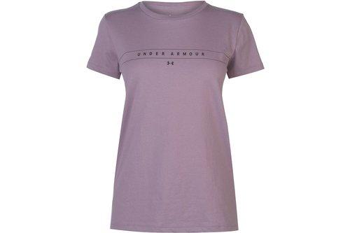 Wordmark T-Shirt Women Purple