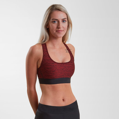 Womens Crossback Jacquard Sports Bra