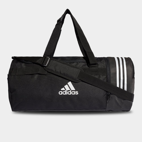 Convertible 3 Stripe Medium Duffel Bag
