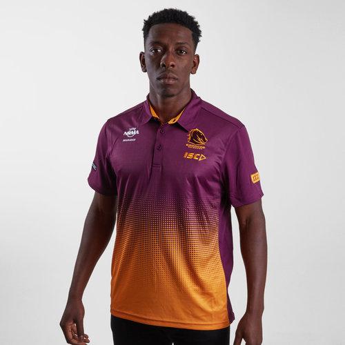 Brisbane Broncos NRL 2019 Players Rugby Polo Shirt
