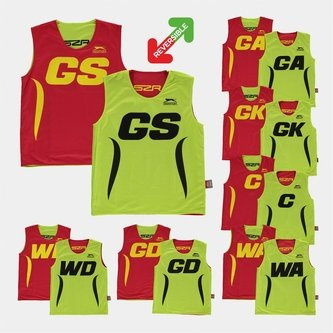 Reversible Netball Training Bibs - Set of 7