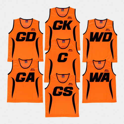 Netball Kids Training Bibs - Set of 7